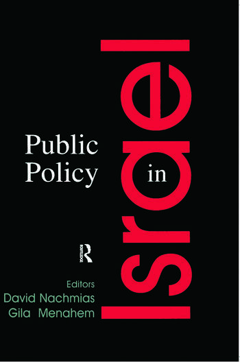 Public Policy in Israel book cover