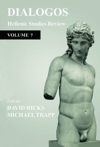 Dialogos Hellenic Studies Review book cover