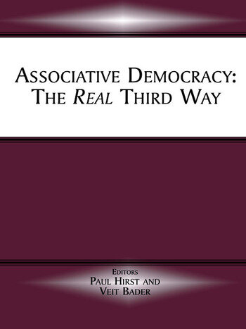 Associative Democracy The Real Third Way book cover