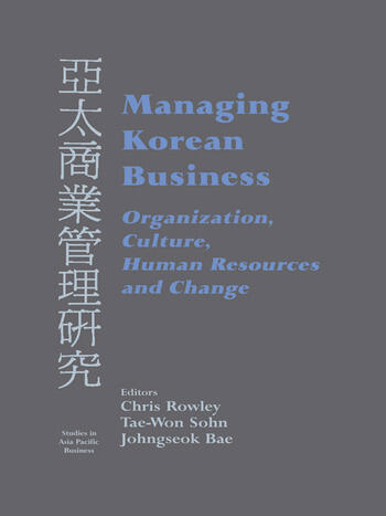 Managing Korean Business Organization, Culture, Human Resources and Change book cover