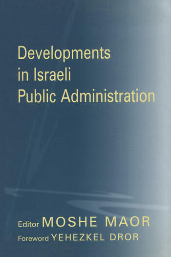 Developments in Israeli Public Administration book cover