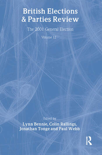 British Elections & Parties Review The 2001 General Election book cover