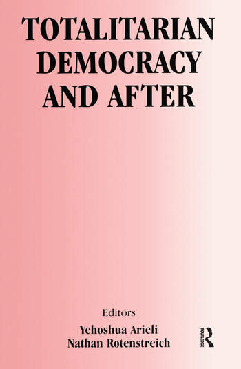 Totalitarian Democracy and After book cover