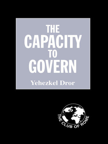 The Capacity to Govern A Report to the Club of Rome book cover