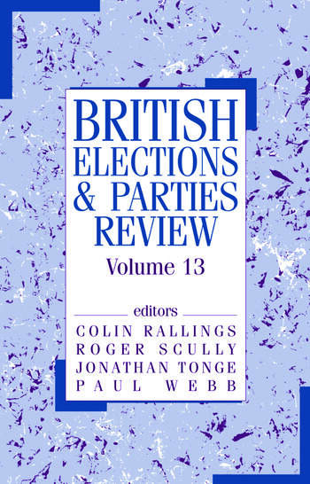 British Elections & Parties Review Volume 13 book cover