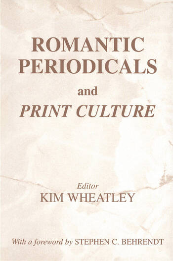 Romantic Periodicals and Print Culture book cover
