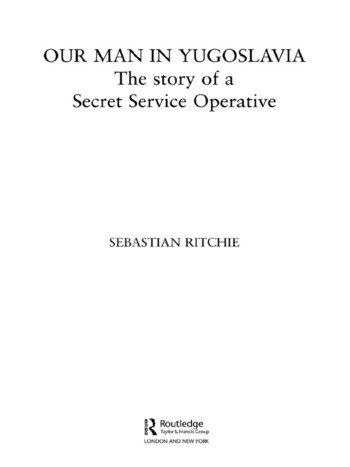 Our Man in Yugoslavia The Story of a Secret Service Operative book cover