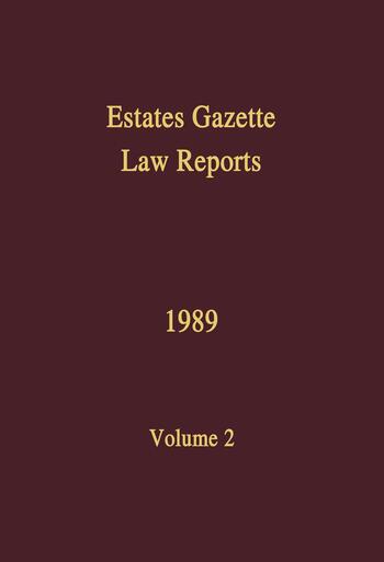 EGLR 1989 book cover