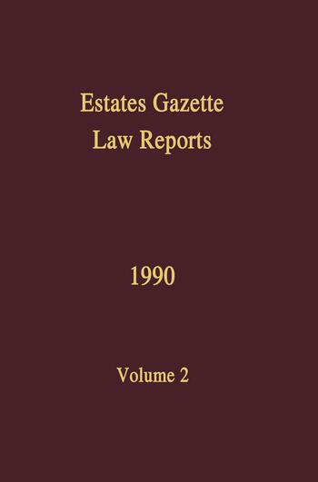 EGLR 1990 book cover