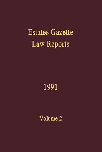 EGLR 1991 book cover
