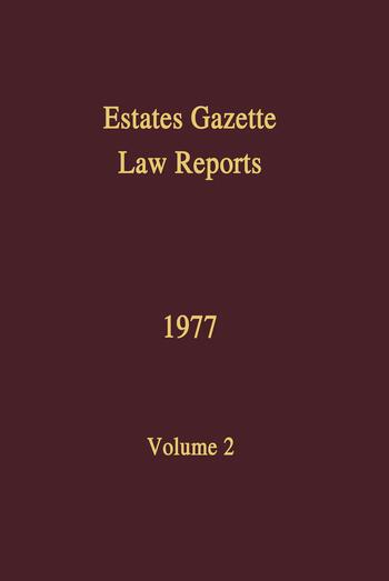 EGLR 1977 book cover