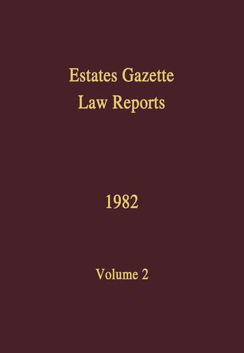 EGLR 1982 book cover