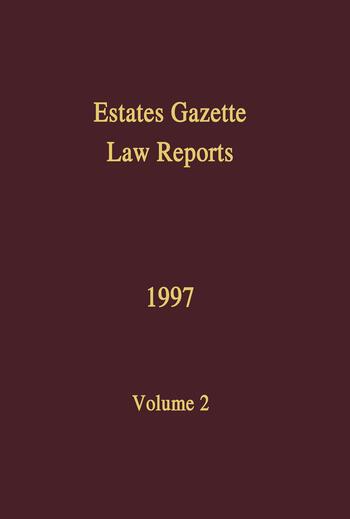 EGLR 1997 book cover