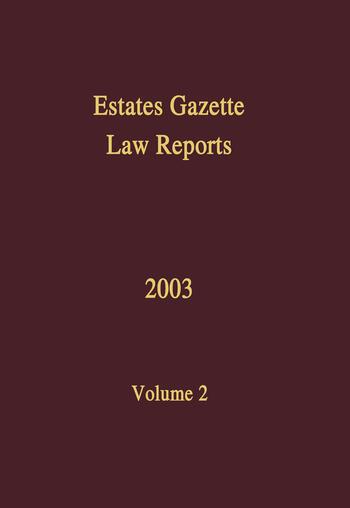 EGLR 2003 book cover