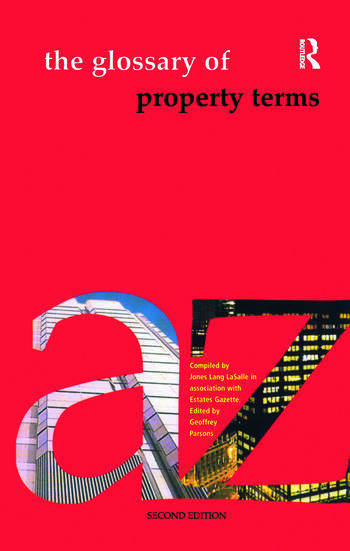 The Glossary of Property Terms book cover