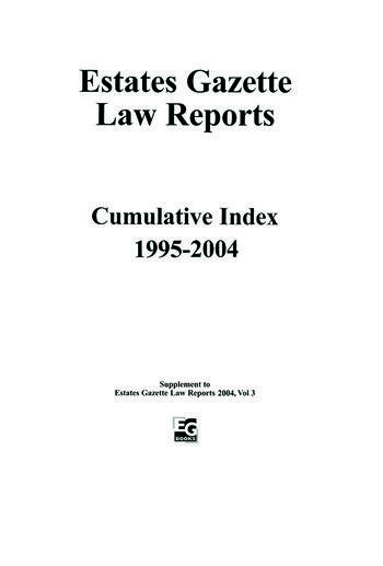 EGLR 2004 Cumulative Index book cover