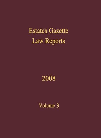 EGLR 2008 Volume 3 book cover