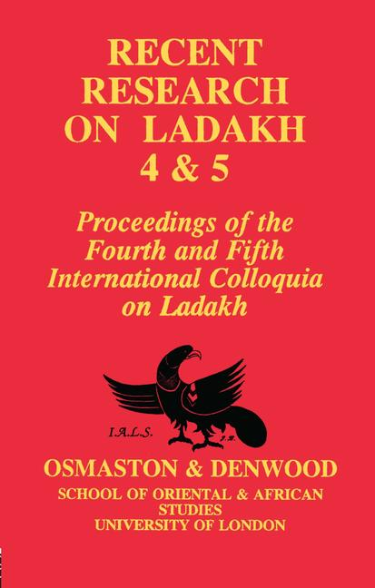 Recent Research on Ladakh 4 & 5 book cover
