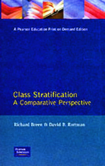 Class Stratification Comparative Perspectives book cover