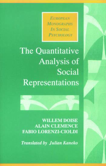 The Quantitative Analysis of Social Representations book cover