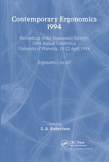 Contemporary Ergonomics book cover