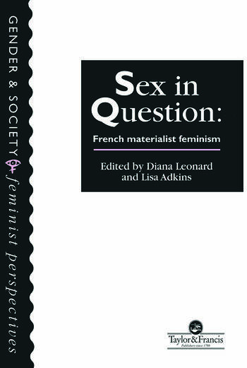 Sex In Question French Feminism book cover