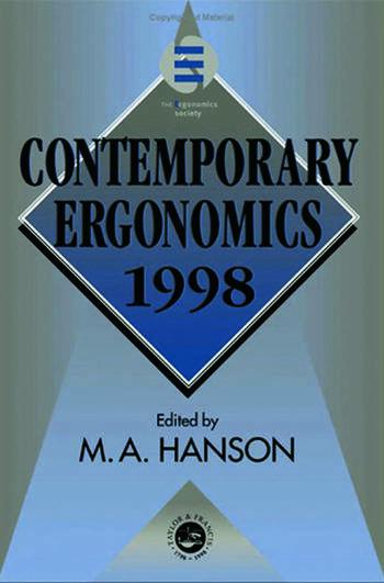 Contemporary Ergonomics 1998 book cover