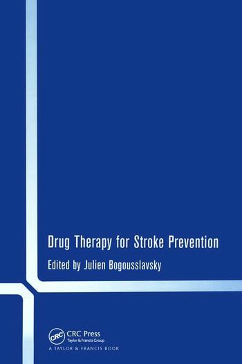 Drug Therapy for Stroke Prevention book cover