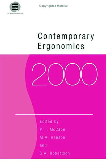 Contemporary Ergonomics 2000 book cover