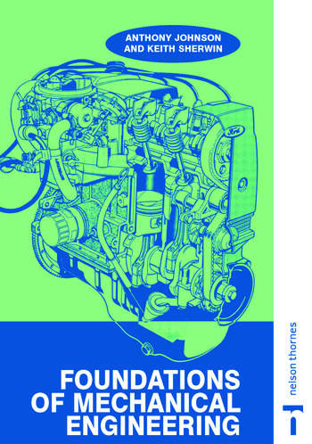 Foundations of Mechanical Engineering book cover