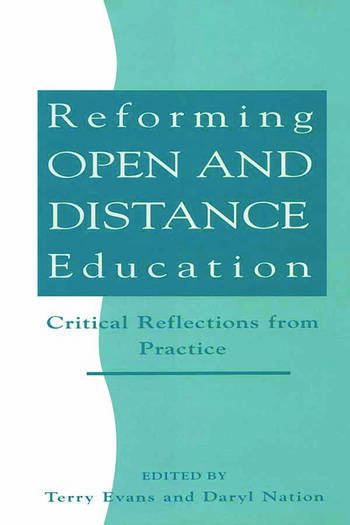 Reforming Open and Distance Education Critical Reflections from Practice book cover