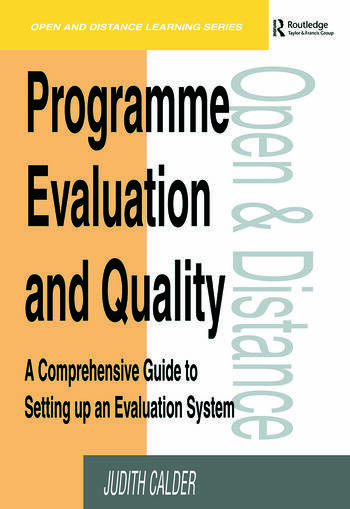 Programme Evaluation and Quality A Comprehensive Guide to Setting Up an Evaluation System book cover