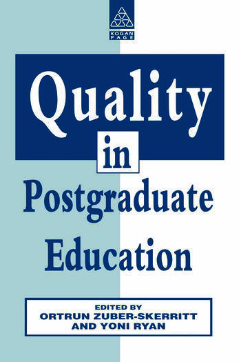 Quality in Postgraduate Education book cover