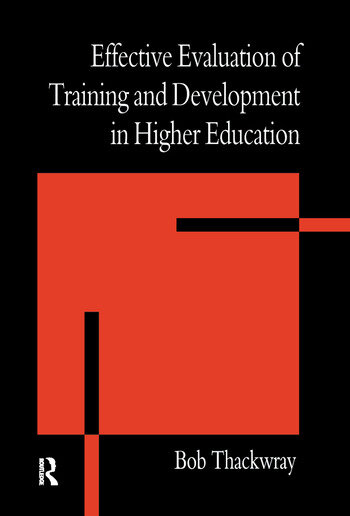 The Effective Evaluation of Training and Development in Higher Education book cover