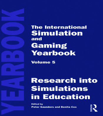 International Simulation and Gaming Yearbook book cover