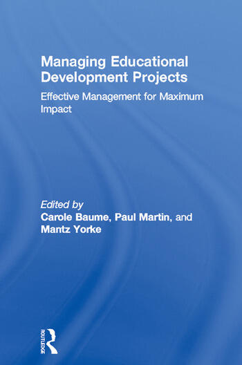 Managing Educational Development Projects Effective Management for Maximum Impact book cover