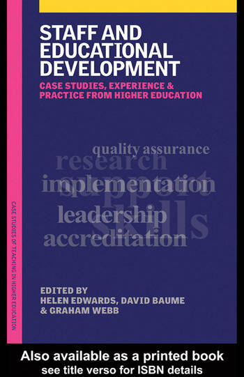 Staff and Educational Development Case Studies, Experience and Practice book cover