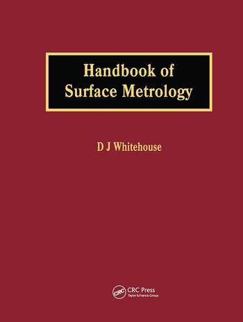 Handbook of Surface Metrology book cover