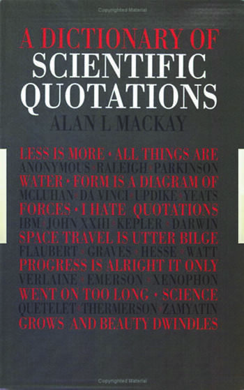 A Dictionary of Scientific Quotations book cover