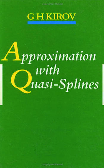 Approximation with Quasi-Splines book cover
