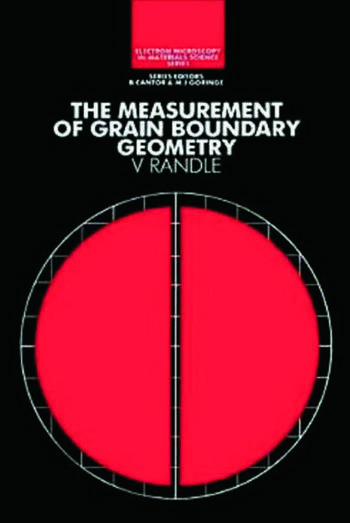 The Measurement of Grain Boundary Geometry book cover