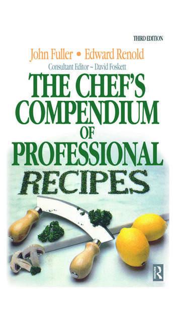 Chef's Compendium of Professional Recipes book cover