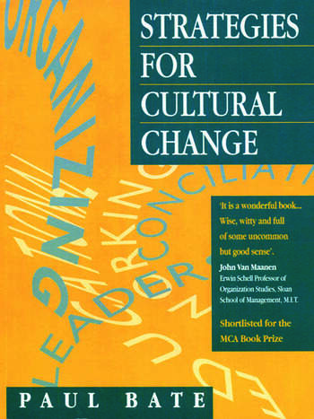 Strategies for Cultural Change book cover
