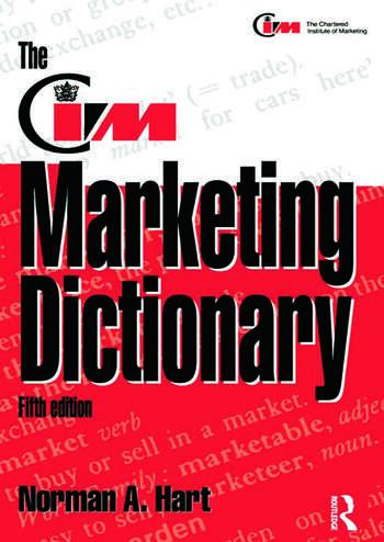 The CIM Marketing Dictionary book cover