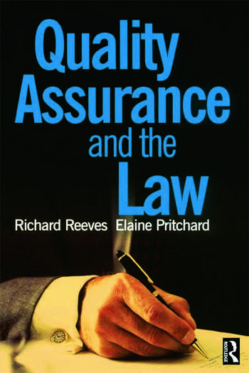 Quality Assurance and the Law book cover