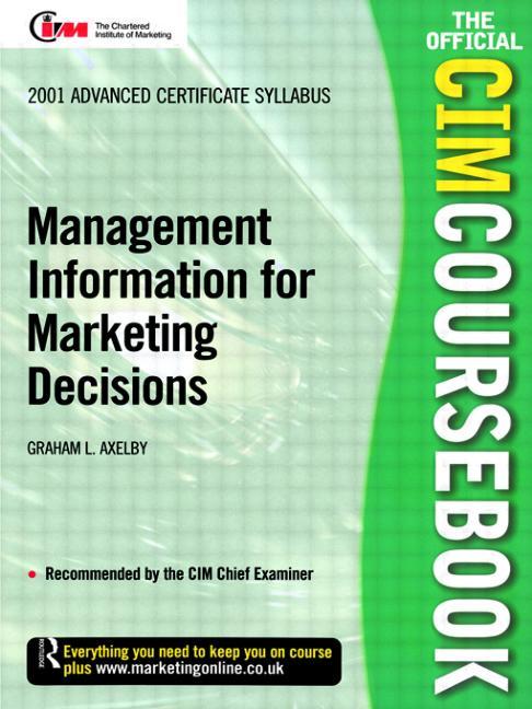 CIM Coursebook 01/02 Management Information for Marketing Decisions book cover