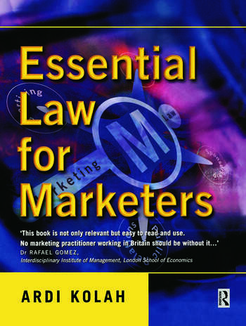 Essential Law for Marketers book cover