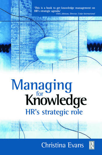 Managing for Knowledge book cover