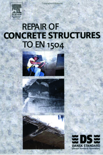 Repair of Concrete Structures to EN 1504 book cover