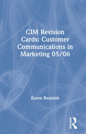 CIM Revision Cards: Customer Communications in Marketing 05/06 book cover